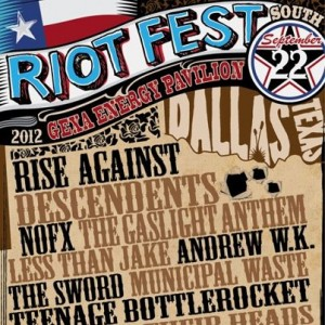 Riot Fest Rise Against, Gaslight Anthem & NOFX Gexa Energy Pavilion