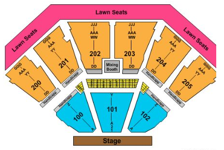 Gexa Energy Pavilion Seating Map Seating Chart « Dos Equis Pavilion