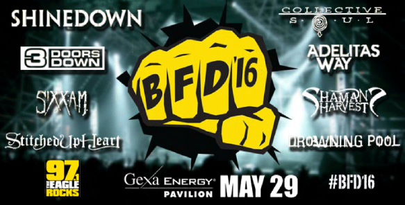 97.1 The Eagle BFD: Shinedown, 3 Doors Down & Collective Soul